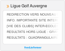 Ligue Golf Auvergne